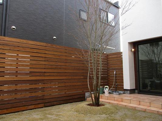 白壁の家 植栽工事